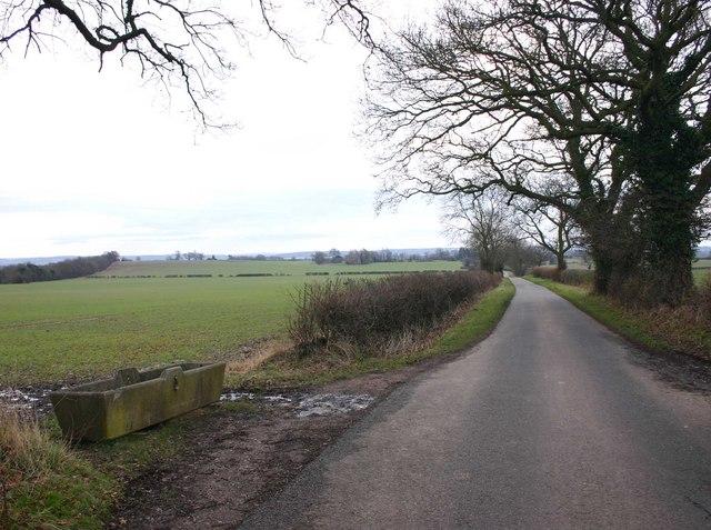 Lane near Hampton Gorse