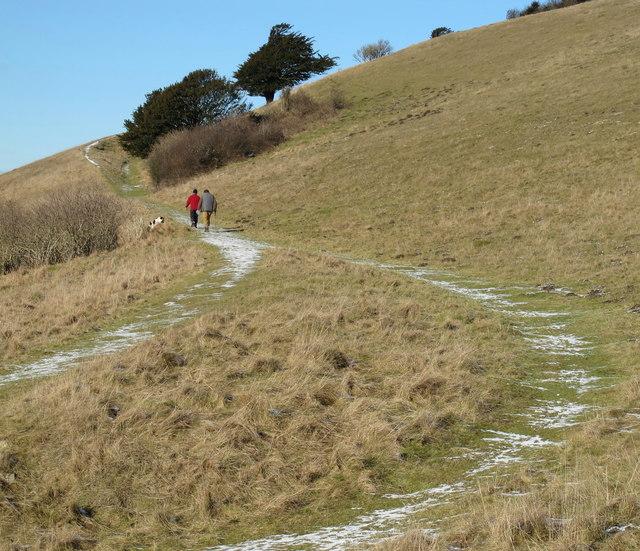 Walking up Beacon Hill
