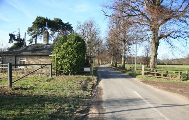 Serlby road looking towards that village