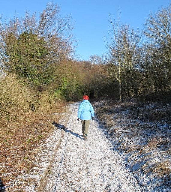 Icknield Way in light snow