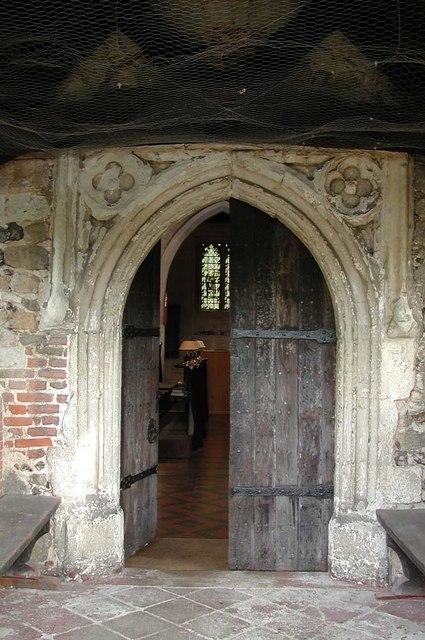 St Mary, Hayes - Doorway