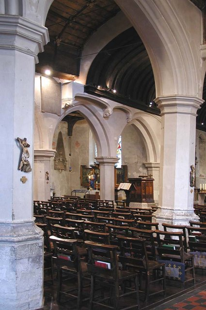 St Mary, Hayes - North arcade