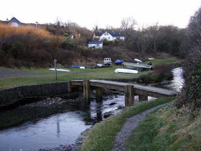 The footbridge at Aberfforest