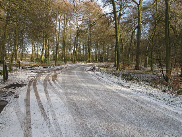 Road to Nature Reserve in snow