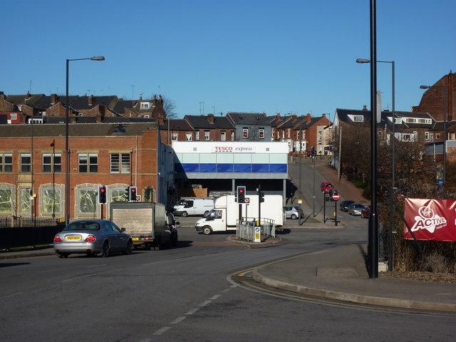 Looking across Broadfield Road