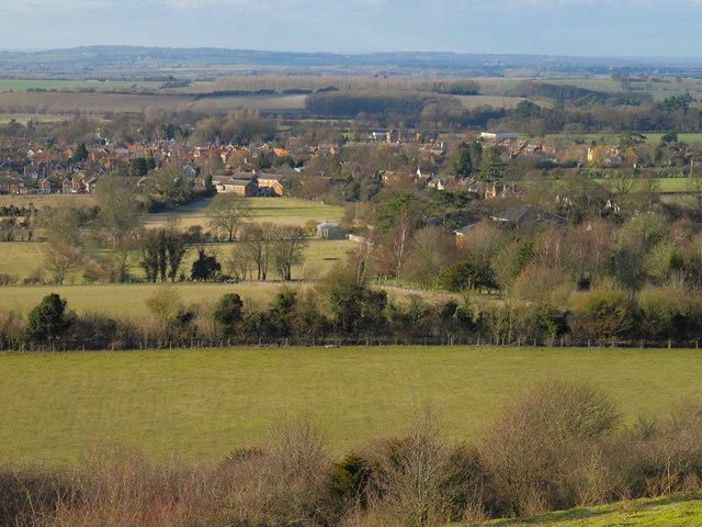 Icknield Way and Watlington from Watlington Hill