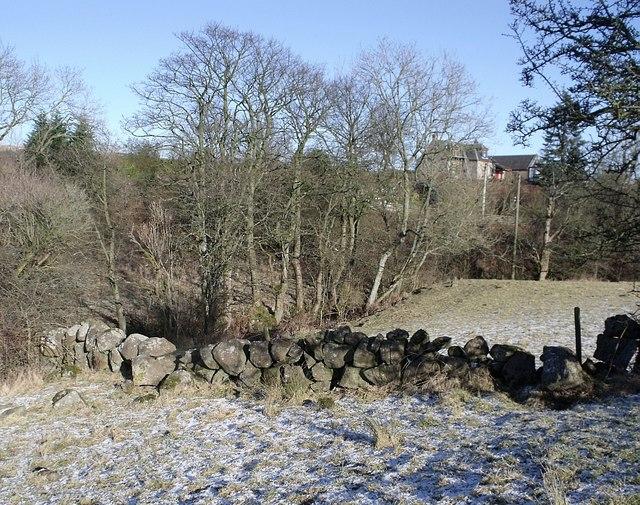 Stone boundary dyke