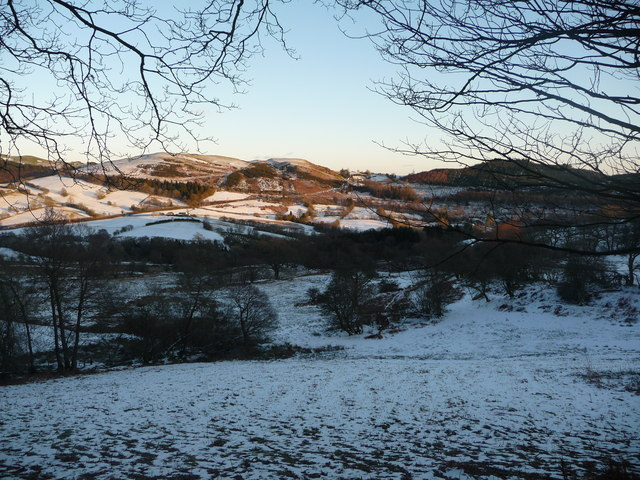 Frosty valley of the Efyrnwy