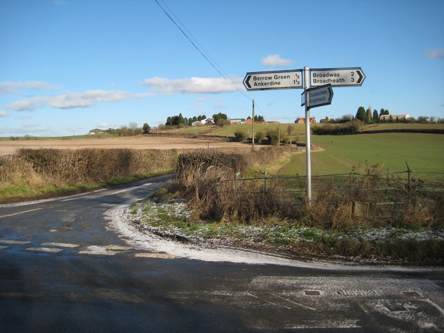 Crossroads near Berrow Green