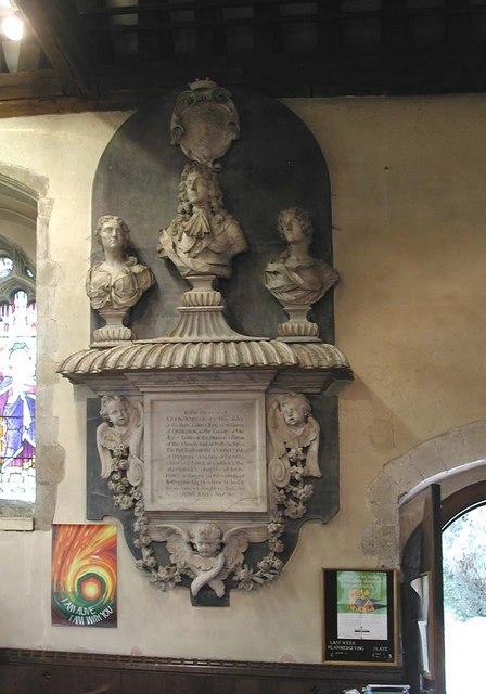 St Peter & St Paul, Harlington - Wall monument