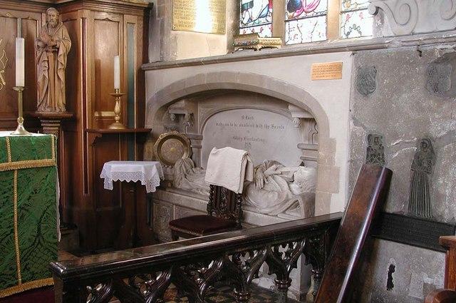 St Peter & St Paul, Harlington - Recessed tomb