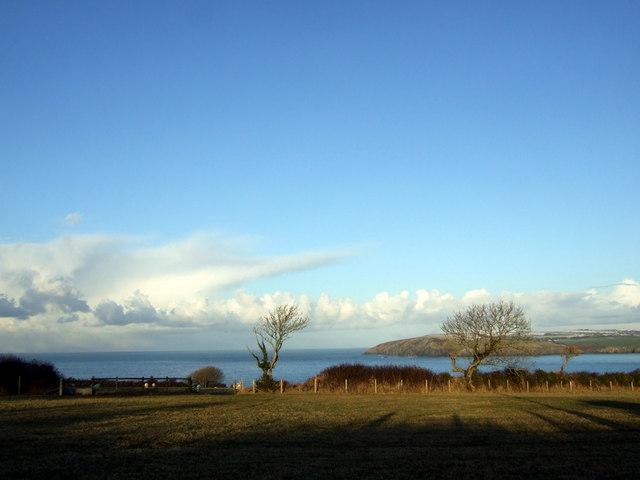 Winter sunshine and shadow on the coast