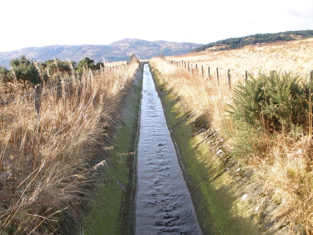 One of the many aqueducts in the area which feed Loch Striven Power Station