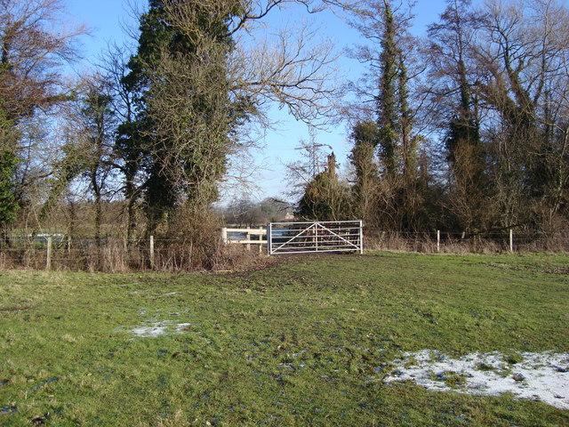 Farm gate between fields