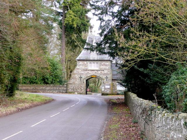 Llanarth Court gatehouse