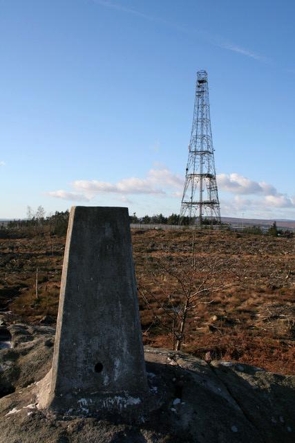 Trig Pillar and Transmitter, Norwood Edge