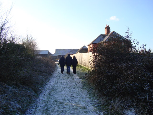 Public Bridleway approaching Lance Levy Farm