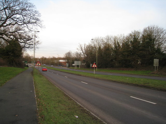 A33 - heading north out of Basingstoke