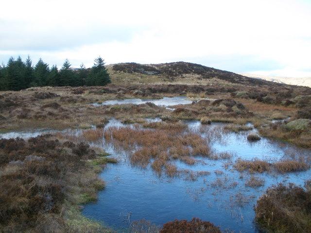 Boggy ground below Cruach nam Mult