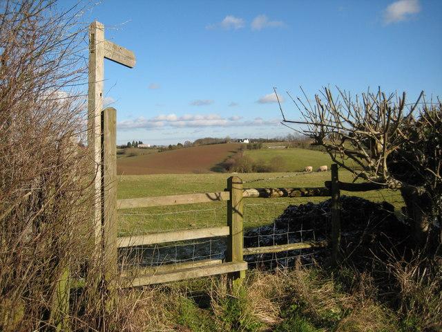 Stile and footpath, near Berrow Green
