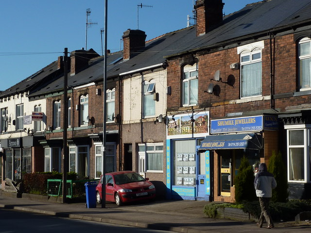 Shops, offices and homes on Abbeydale Road