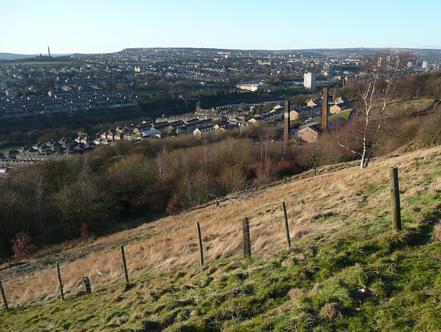View of Siddal from Coal Pit Lane, Halifax