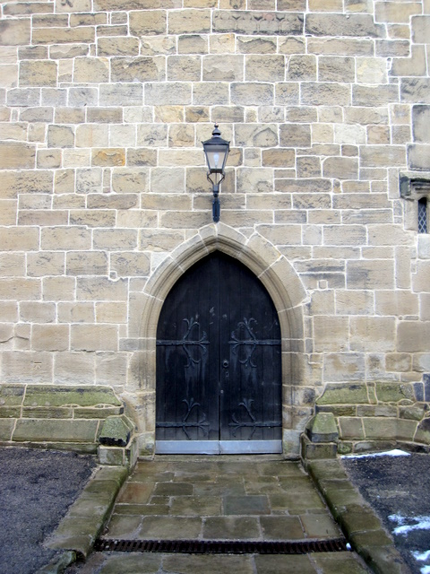 All Saints church, Gresford west door