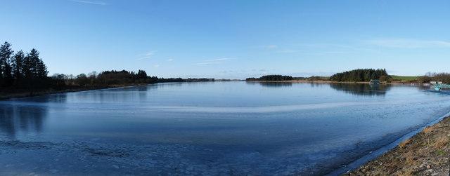 An icy Cameron Reservoir