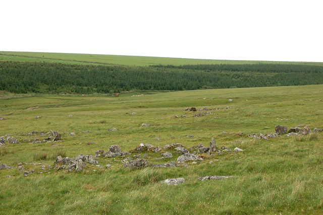 Looking north from the flank of Rough Tor