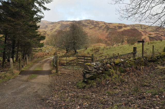 Farm road to Kilbride