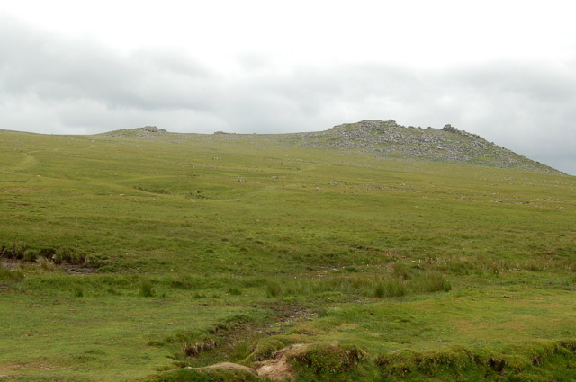Looking south across the moor to Rough Tor
