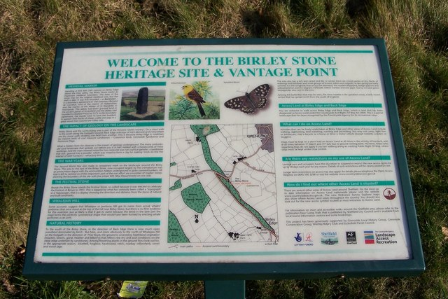 Birley Stone and Heritage Site Display, Jawbone Hill, near Oughtibridge