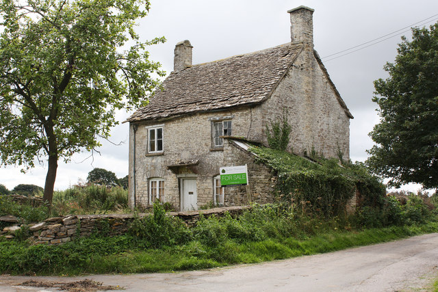 derelict house for sale at leighterton by mike baldwin