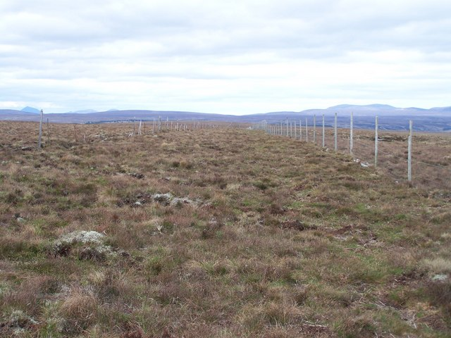 Old fence (left) and new fence (right) to the new forestry plantation at Coirefrois.