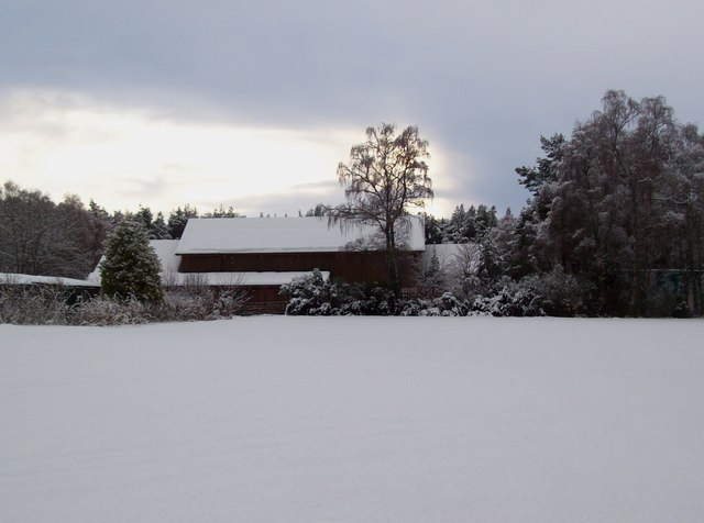 Inchberry hall after the snow