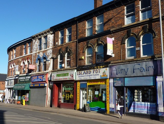 Shops on London Road, Highfield, Sheffield