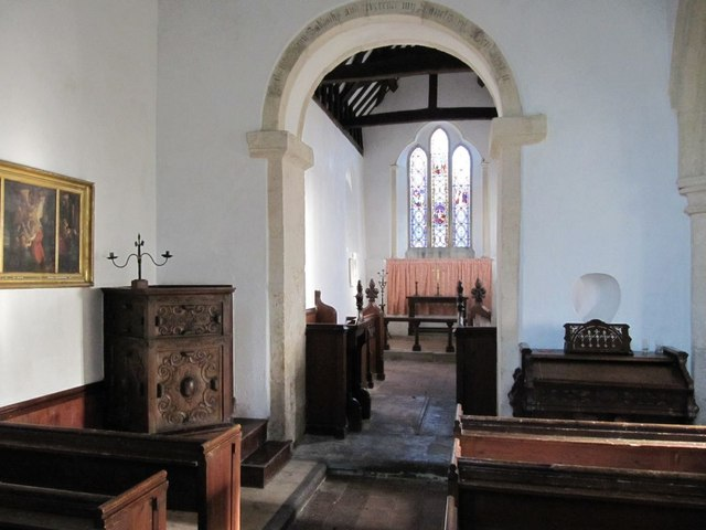 Looking across the nave