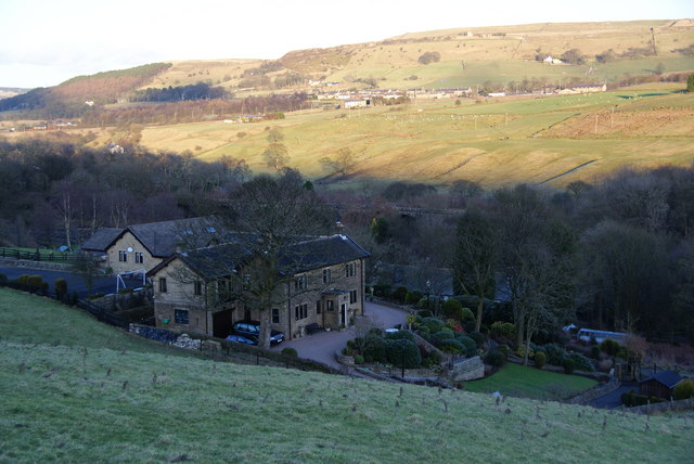 Lumb village from the hillside above