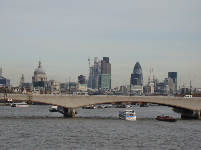 View of the London skyline from the Golden Jubilee Bridge