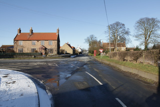 Yedingham, road junction with the B1258