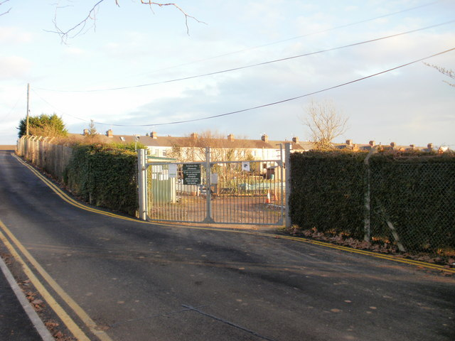 Entrance gate to St Julians Allotments, Newport
