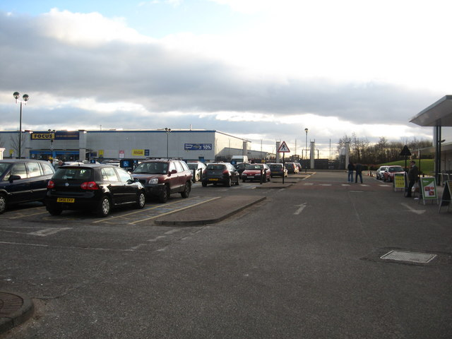 Car park at Alloa retail park