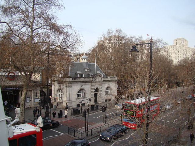 View of the Victoria Embankment from the Golden Jubilee Bridge