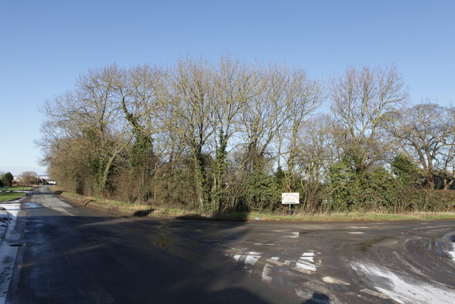 Junction of Kirby Lane with Station Road