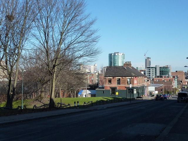 Looking down Cemetery Road, Sheffield
