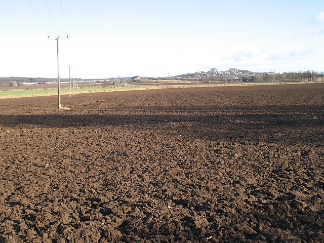 Ploughed field, Benvie