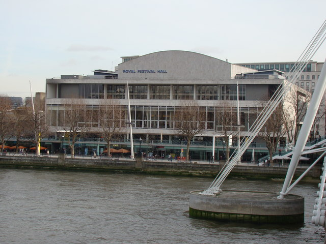 The Royal Festival Hall from the Golden Jubilee Bridge