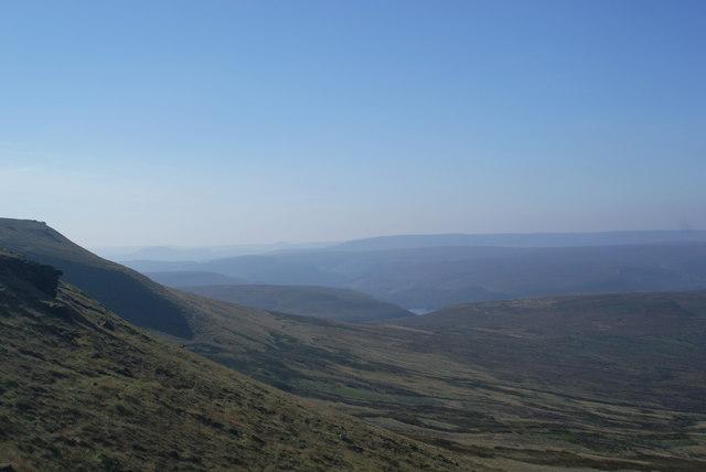 The hillside below Howden Edge