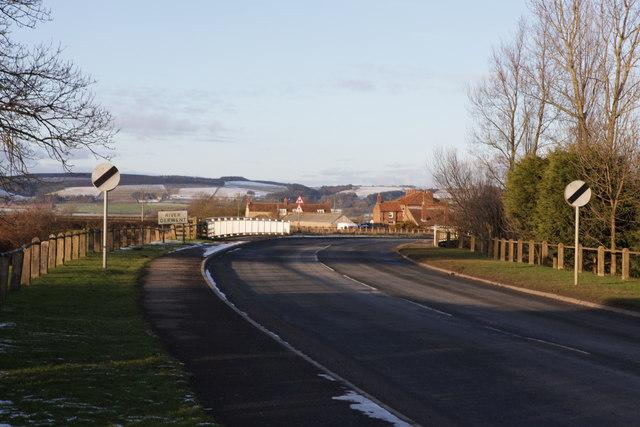 B1258 leading North from Yedingham
