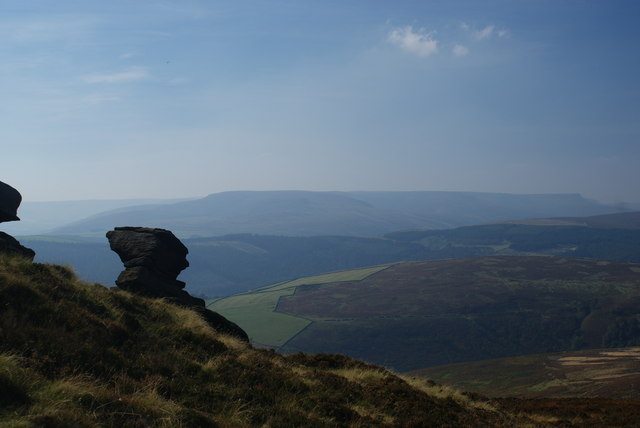 Rock formation on Dovestone Tor